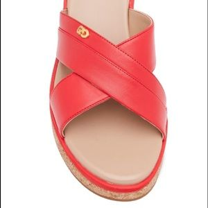 Cole Haan 'Briellla Grand II'Red Leather Slide 10